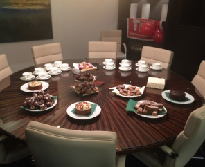 Landmark Plc cake sales for BCA fundraising campaign